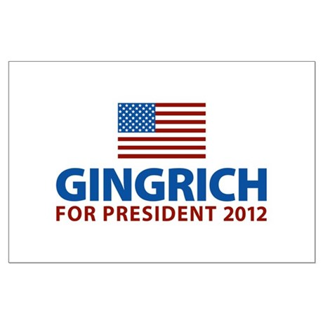 Gingrich for President 2012 Large Poster