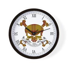 MacMillan Tartan Skull Wall Clock