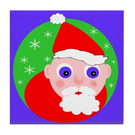 Santa Cartoon Tile Coaster
