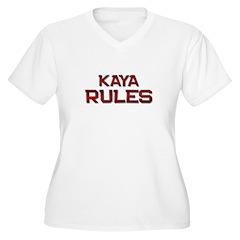 kaya rules Women's Plus Size V-Neck T-Shirt