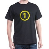 'Wavy-1 Yellow' Male T-Shirt