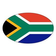 South Africa Oval Sticker (10 pk)