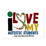I Love My Autistic Students 2 Postcards (Package o