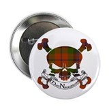 MacNaughton Tartan Skull 2.25&quot; Button