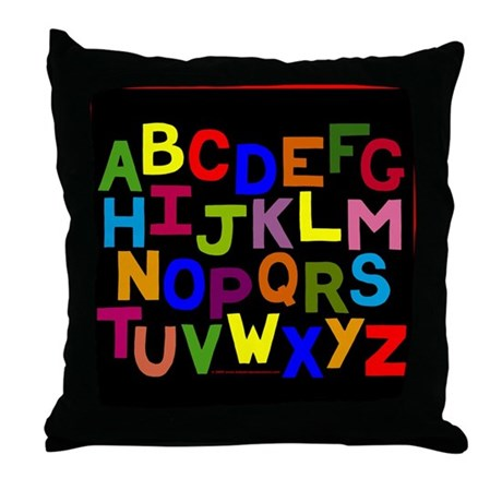 ABC Alphabet Children's Throw Pillows