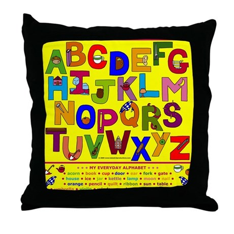 ABC Objects Alphabet Children's Throw Pillows