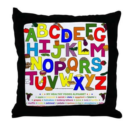 ABC Healthy Food Alphabet Children's Throw Pillows