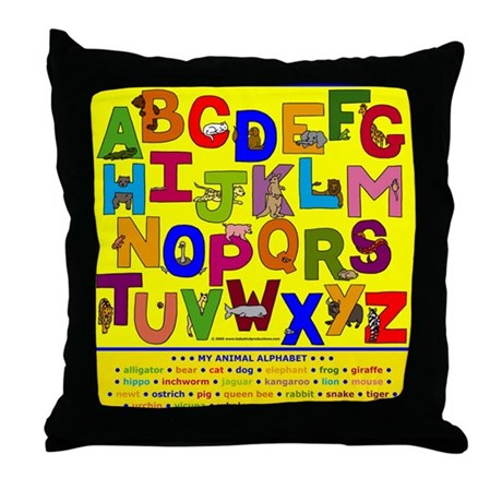 ABC Animals Alphabet Children's Throw Pillows