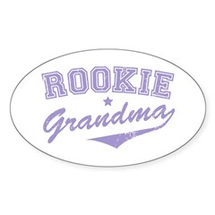Rookie Grandma Oval Sticker