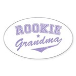 Rookie Grandma Oval Sticker (50 pk)