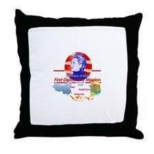 Clinton Trip Throw Pillow