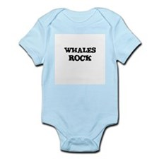WHALES ROCK Infant Creeper