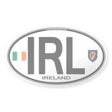 Ireland Intl Oval Oval Sticker (10 pk)