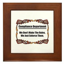 Enforce The Rules Framed Tile