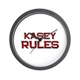kasey rules Wall Clock