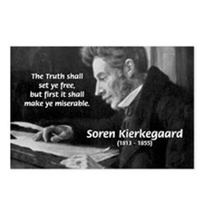 Truth Existentialist Kierkegaard Postcards (Packag