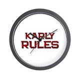 karly rules Wall Clock