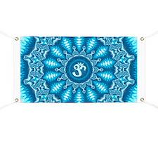 Blue Aum Banner