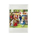 ALICE & THE QUEEN OF HEARTS Rectangle Magnet (10 p