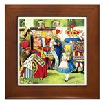 ALICE & THE QUEEN OF HEARTS Framed Tile