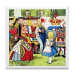 ALICE & THE QUEEN OF HEARTS Tile Coaster