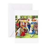 ALICE & THE QUEEN OF HEARTS Greeting Card