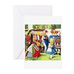 ALICE & THE QUEEN OF HEARTS Greeting Cards (Pk of