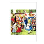 ALICE & THE QUEEN OF HEARTS Postcards (Package of