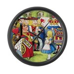 ALICE & THE QUEEN OF HEARTS Large Wall Clock