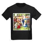 ALICE & THE QUEEN OF HEARTS Kids Dark T-Shirt