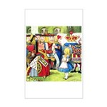 ALICE & THE QUEEN OF HEARTS Mini Poster Print