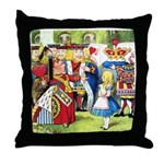 ALICE & THE QUEEN OF HEARTS Throw Pillow