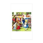 ALICE & THE QUEEN OF HEARTS Rectangle Sticker 50