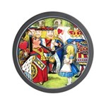 ALICE & THE QUEEN OF HEARTS Wall Clock