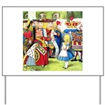 ALICE & THE QUEEN OF HEARTS Yard Sign