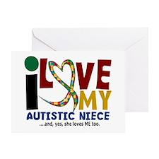 I Love My Autistic Niece 2 Greeting Card