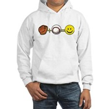 Mitt Plus Ball Equals Happy Face Hoodie