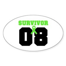 Lymphoma Survivor 8 Years Oval Decal