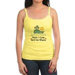 Peace Love Save The Whales Jr. Spaghetti Tank