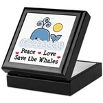 Peace Love Save The Whales Keepsake Box