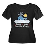 Peace Love Save The Whales Women's Plus Size Scoop