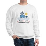 Peace Love Save The Whales Sweatshirt