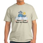 Peace Love Save The Whales Light T-Shirt