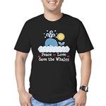 Peace Love Save The Whales Men's Fitted T-Shirt (d