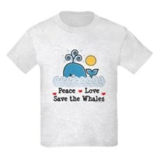 Peace Love Save The Whales T-Shirt