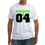 Lymphoma Survivor 4 Years Fitted T-Shirt