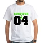 Lymphoma Survivor 4 Years White T-Shirt