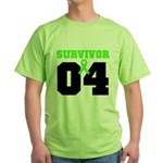 Lymphoma Survivor 4 Years Green T-Shirt