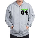 Lymphoma Survivor 4 Years Zip Hoodie
