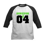Lymphoma Survivor 4 Years Kids Baseball Jersey